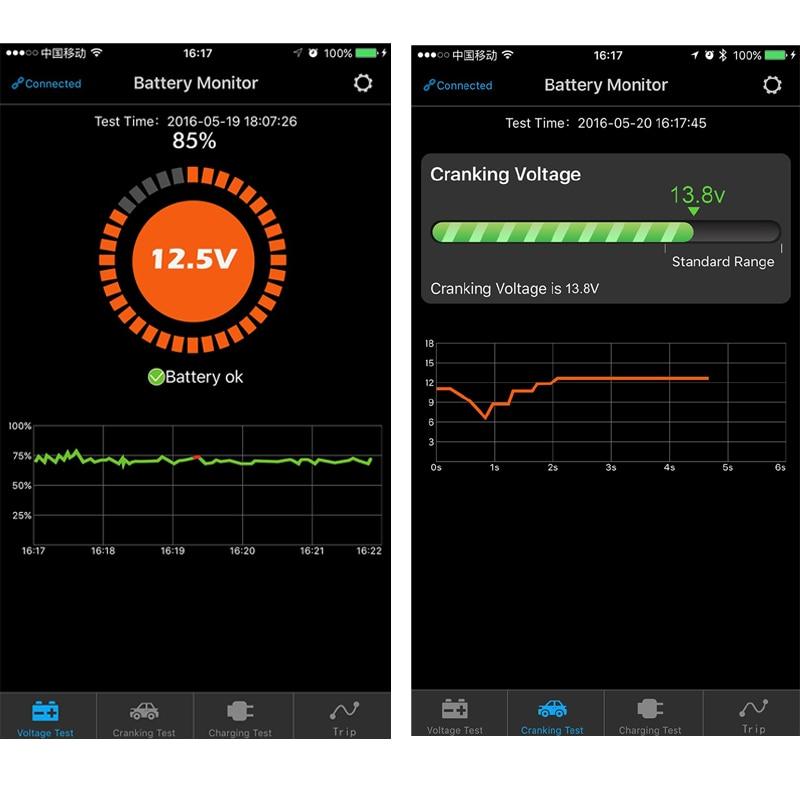 bluetooth для автомобиля батарея тестер с напряжение зарядки и сгибать тест для андроид iOS телефон батарея анализатор бесплатная доставка