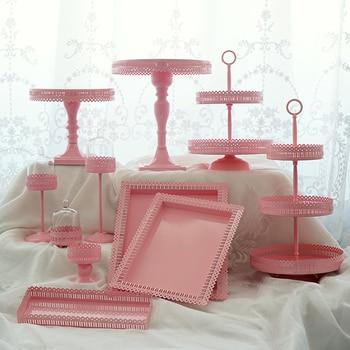 Rosa Kuchenteller | Rosa Kuchen Steht Set Geburtstag Party Von Prinzessin Rosa Kuchen Cupcake Dekoration Platten Platten Von Lebensmittel Dessert Hefe