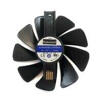 GPU RX 580 RX 570 Cooler Sapphire NITRO Gear wiatrak led do chłodzenia kart RX580 RX570 w Wentylatory i chłodzenie od Komputer i biuro na