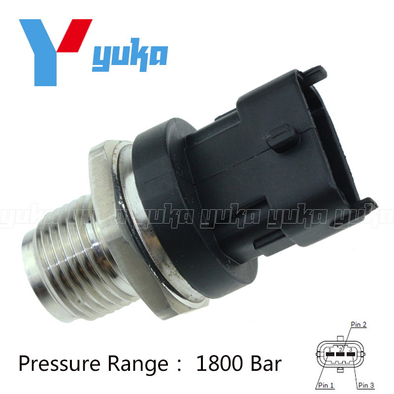 Fuel Rail High Pressure Sensor Common Injection 0281006158 0281002864 0281002707 For Bosch For IVECO OPEL VAUXHALL SAAB VOLVO