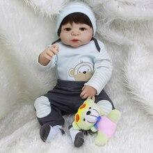 2017 Nueva Venta Caliente Realista Renacer Muñeca De Silicona Completa Nueva Juguetes del bebé Del Patrón Del Mono capa del muchacho Regalo de Silicona Muñecas Reborn Bebés
