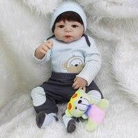 Yeni Sıcak Satış Gerçekçi Reborn Bebek Bebek Tam Silikon Yeni bebek Oyuncakları Maymun Desen coat boy Hediye Silikon Reborn Bebekler bebekler