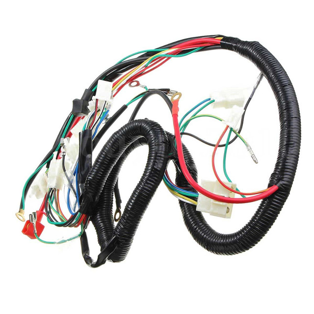 new set universal wiring harness for 150 250cc quad bike atv parts rh aliexpress com Motorcycle Wiring Kit Honda Motorcycle Wiring Schematics