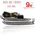 2 Unids/set Super Brillante LED luces de Circulación Diurna DRL impermeable Luz Diurna Para KIA K2 RIO 2012 2013 2014
