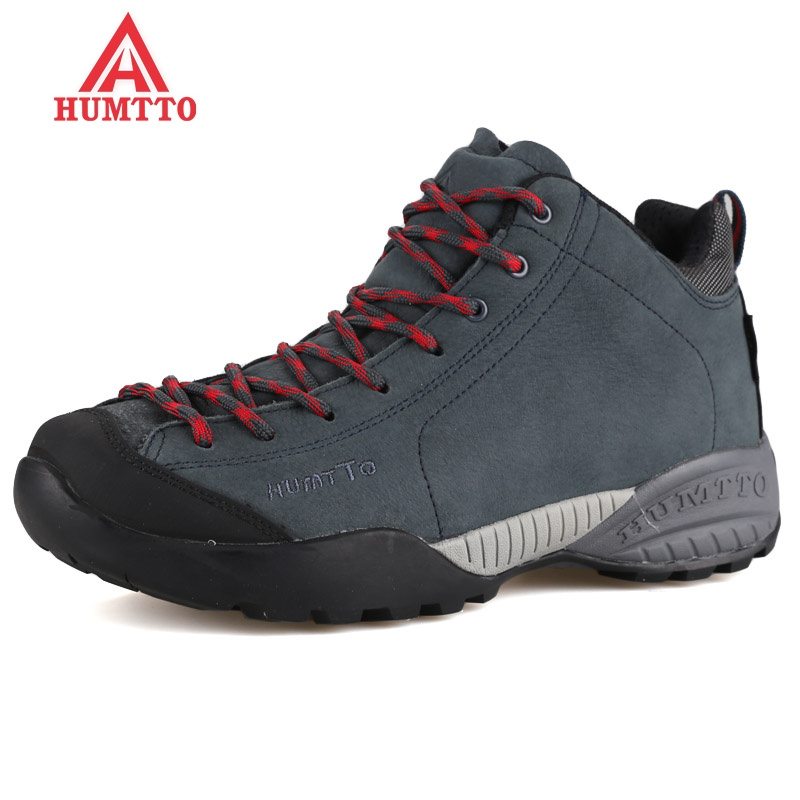Real Winter Waterproof Hiking Shoes Men Genuine Leather Outdoor Sneakers Climbing Boots Breathable Sport Warm Hunting Mountain