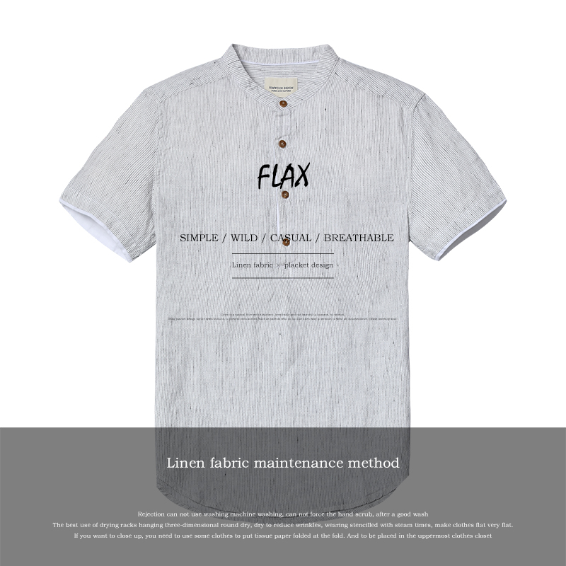 a7f5b95656f SIMWOOD 2018 Summer Shirts Men Short Sleeve 100% Pure Linen Henry Collar  Striped Cool Breathable Brand Clothing CD017002-in Casual Shirts from Men s  ...
