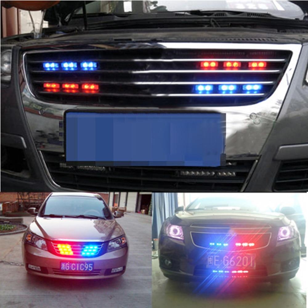 car accessories strobe lights 54 led blue red car strobe bars deck dash grill emergency warning. Black Bedroom Furniture Sets. Home Design Ideas
