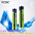 YCDC 4PCS 100% New Original 1.2v 1000 mah AAA LR03 Ni-MH Rechargeable Battery For Toys Wholesale + Great Power EE6344aaa