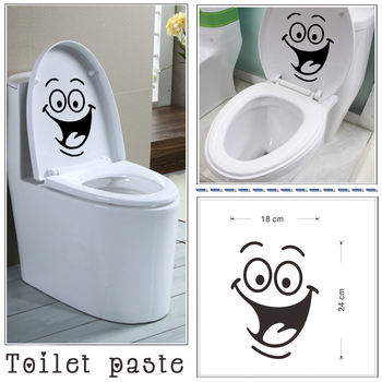 Smiley Face Toilet Sticker Emoji Bathroom Wall Decal Home Decor Removable Wall Stickers On The Toilet Seat 3d Vinyl Wall Kids WC Туалет
