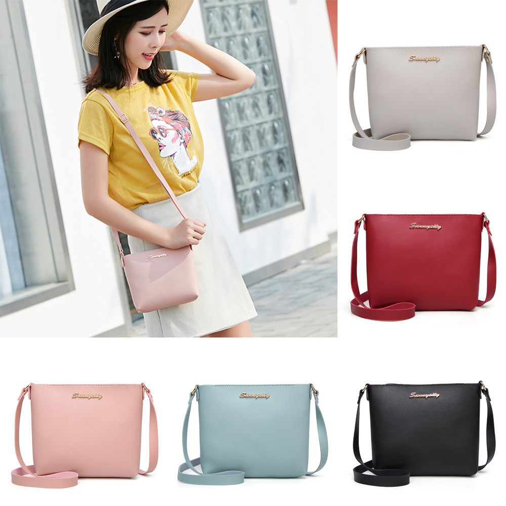2019 Fashion For Women Solid Zipper Shoulder Bag Crossbody Bag Messenger Phone Coin Bag Small Korean Style Bolsas Feminina