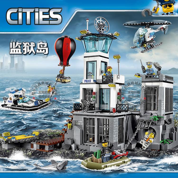 City Series Police Prison Island Police Toys Boys DIY Building Brick Toys Gift Same as 60130 police pl 12921jsb 02m