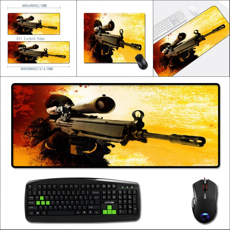 Mairuige High Quality 400x900MM Big Mouse Pad To Improve The Fps Game Experience Csgo Gaming Mat  Ranbow Six Pc Computer Gamer