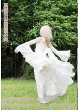 Anime The Seven Deadly Sins Elaine Cosplay Costumes Dress Set Lolita White Chiffon Full Dress for Women Girls Free Shipping