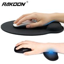 лучшая цена New Wrist Rest Mouse Pad Non-Slip Base Superfine Fibre Memory Foam Wrist Rest Pad Ergonomic Mousepad for Office Gaming Laptop PC