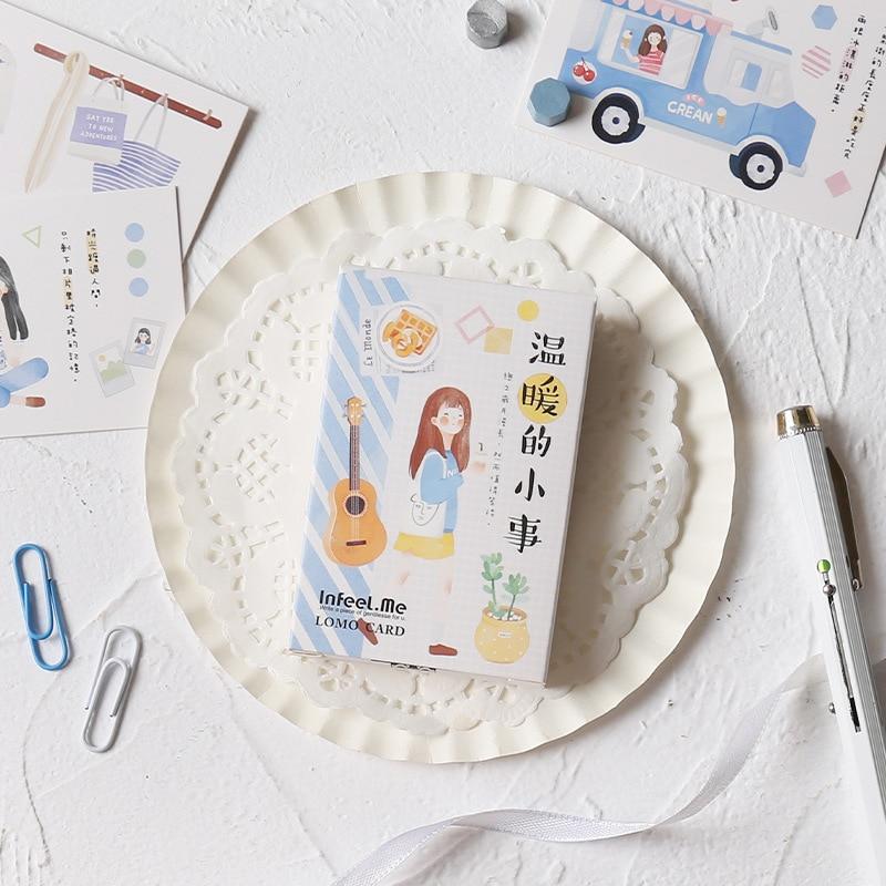 28 Sheets/Set Creative Girl Life Lomo Card Mini Cartoon Postcard Greeting Card Christmas Gifts