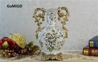 Continental European antique Ceramic Vase flower ornaments Home Furnishing wedding gifts ceramic vase