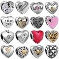 Love series jewelry making Handmade flowers diy beads Fit pulseira pandora bracelet charms silver 925 original berloque