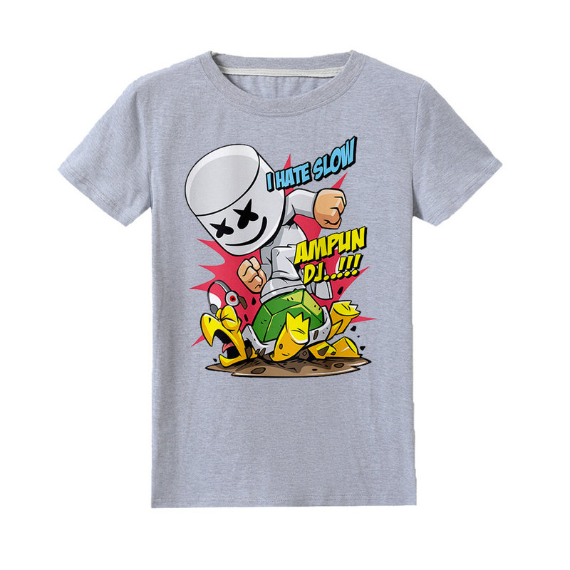 37d0490f65 Kids T Shirt Marshmello DJ Music Print kids clothing baby boy tees clothes  girls 100% cotton t shirts summer short sleeve tops