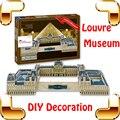 Новый Год Подарок Лувр 3D Головоломки Франция Знаменитое Здание Модель DIY Игрушка Коллекция Украшения Образование Обучение Игрушки-Головоломки