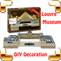 New Year Gift Louvre Museum 3D Puzzle France Famous Building Model DIY Toy Collection Decoration Education Learning Puzzle Toys
