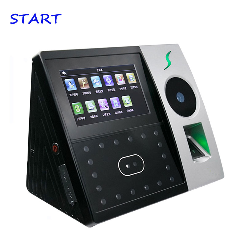 Iface702 Palm Time Attendance Employee Hybird Biometric Electronic Attendance Face & Fingerprint Time Recorder Free Software