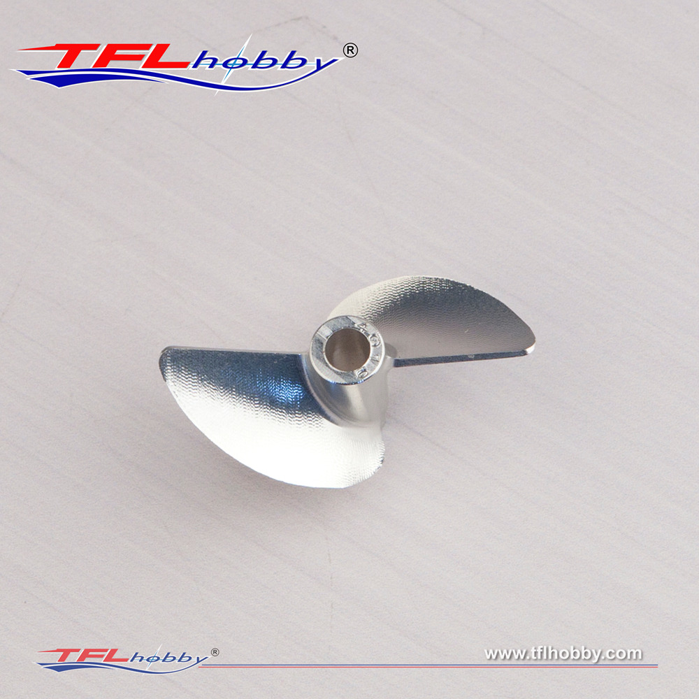 Image 3 - TFL Genuine Parts! 2 Blade G Series  CNC 1.9 Thread pitch  Hole Dia  3.18mm/4.0mm Aluminium Propeller for RC boatParts & Accessories   -