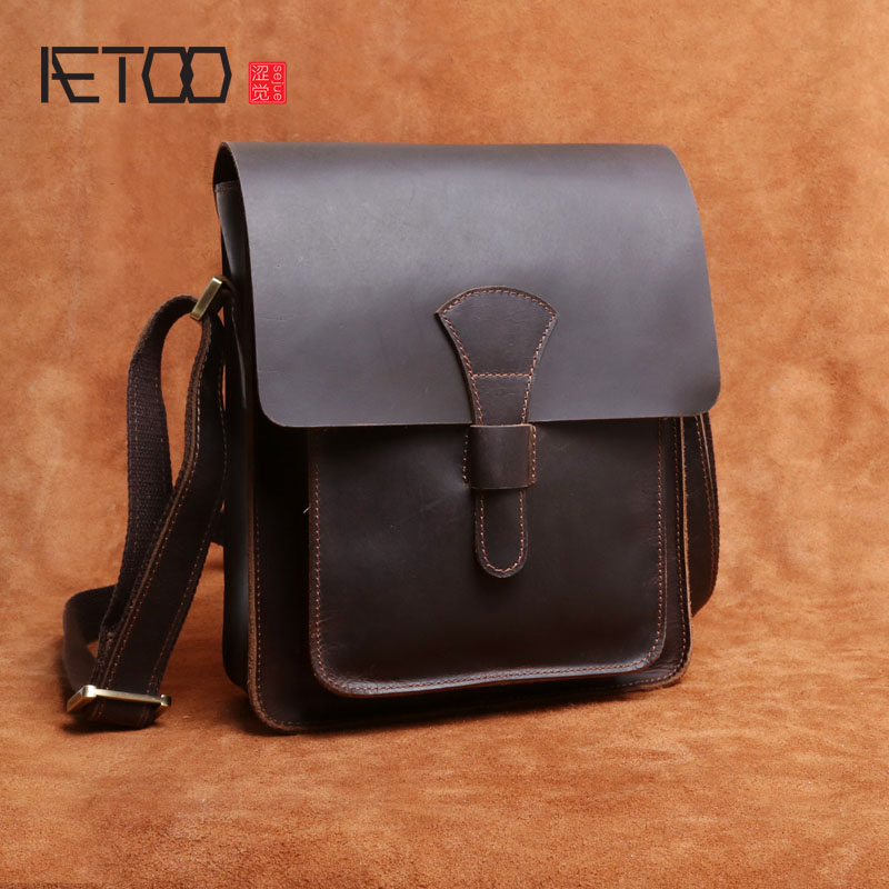 AETOO Handmade mad horse leather men shoulder bag section pure leather simple retro package leather briefcase male bag шина bfgoodrich all terrain t a ko2 lt 225 70 r16 104s