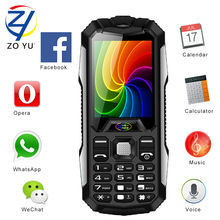 ZOYU D9800 мобильных телефонов бизнес-телефон открытый телефон для старшего телефон 3800 power bank 2 Г dual sim двойной резервный мобильный телефон