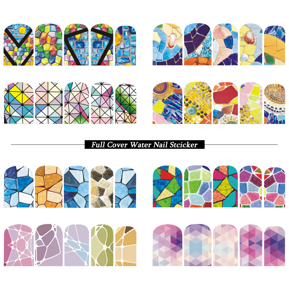 12 Designs Water Transfer Nail Sticker Summer Full Cover Marble DIY Wraps Nail Art Decorations Stickers Slider Set SABN625-636 nail salon 1sheet summer ocean designs