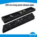"Tripod Monopods 200mm Universal Quick Release Plate PU-200 for Benro Arca Swiss Tripod Ball head B1 B2 B3 With 1/4"" & 3/8"" Screw"