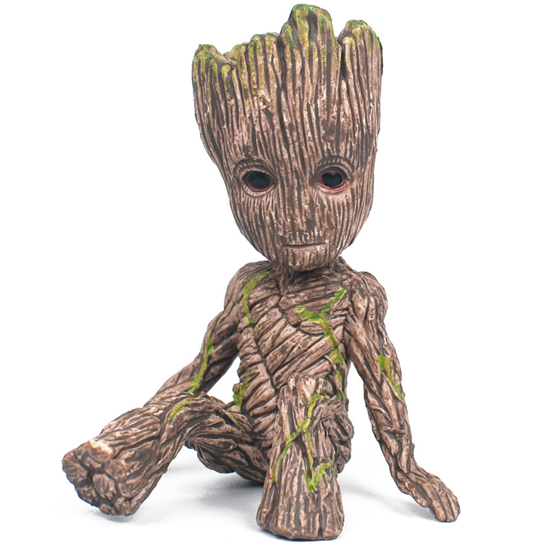 Tree Man Baby Action Figure Grootted Doll Phoneholder Grunt Guardians of The Galaxy Model Toy Statue Ornaments Birthday Gifts wow world of orc statue figure high quality wolf rider 10 toy collectibles model doll 275