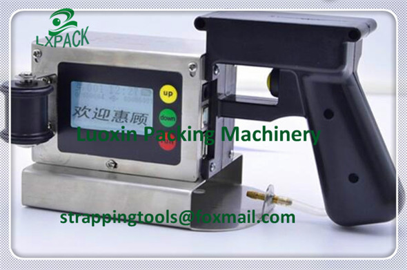 LX PACK Lowest price handheld ink jet printer for batch carton box printing machine for wood plastic aluminum foil cartons cable