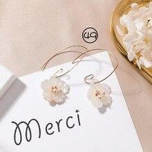 2018 Simple Korean Girl Cute Earrings Geometry Shell Asymmetric Wing Long Tassel Drop Earrings for Women Fashion Accessories
