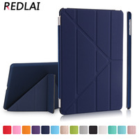 Redlai Ultra Thin Magnetic Smart Cover Front PU Leather With PC Matte Hard Back Skin Case