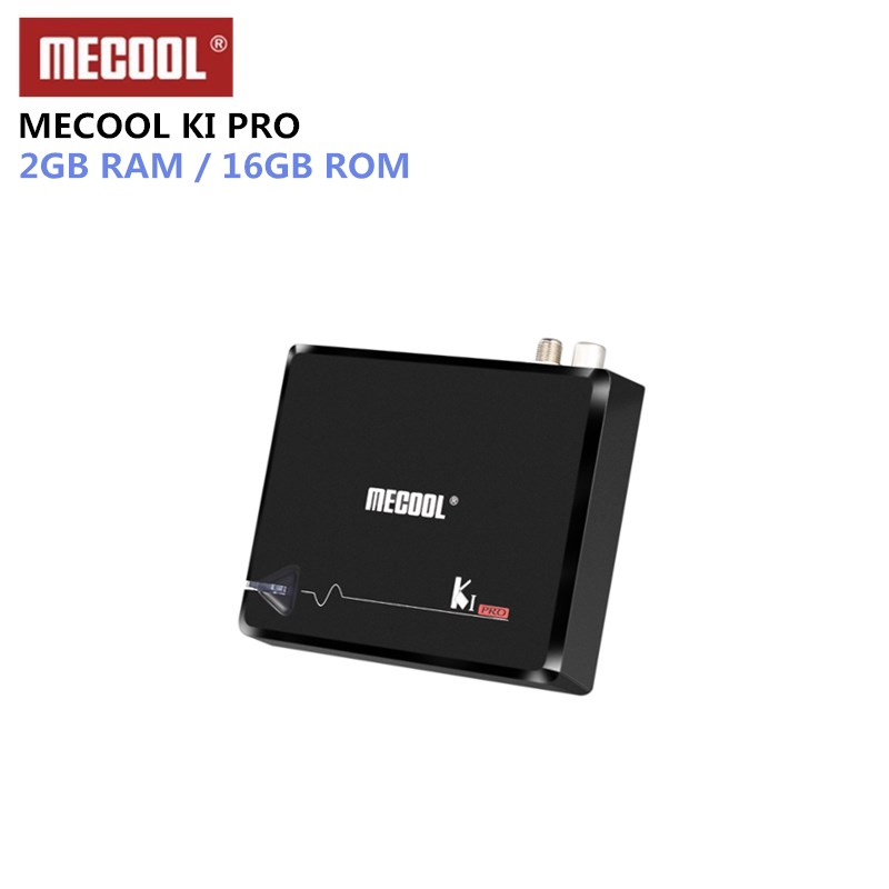 MECOOL KI PRO TV Box KI PRO S2+T2 DVB Amlogic S905D Quad 2G+16G Support DVB-T2&S2/DVB-T2/DVBS2 Set Top Box Android TV Box k1 dvb s2 android 4 4 2 amlogic s805 quad core tv box
