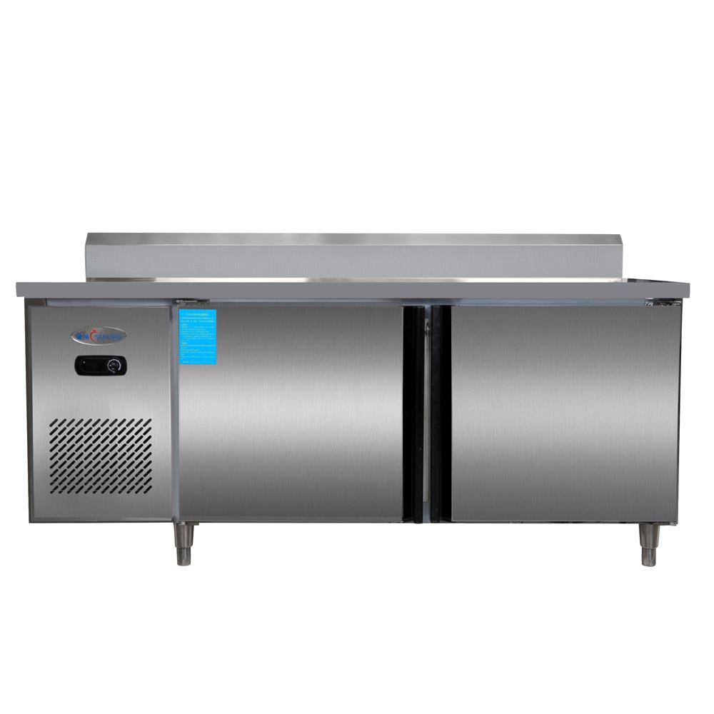 1.8m 400 Liter Stainless Steel Restaurant Kitchen Under Counter Worktop  Bench Top Commercial Refrigerator Freezer Cabinet 14 Cf.