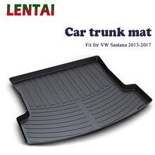 car trunk mat for volvo s80 ii 2006 2016 sedan element nlc5005b10 EALEN 1PC Car rear trunk Cargo mat For VW Santana Sedan 2013 2014 2015 2016 2017 Car Boot Liner Tray Waterproof Anti-slip mat
