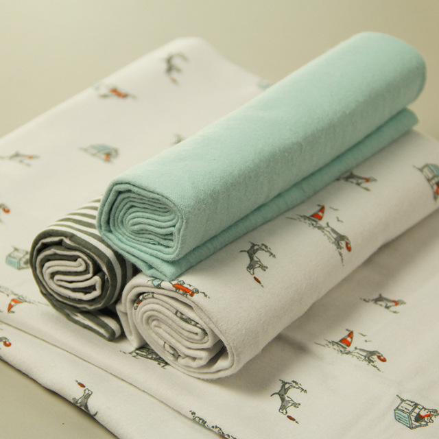 4pcs/set Newborn Soft Crib Sheet – 100% Cotton