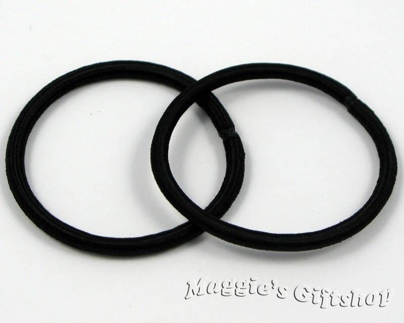 200 pieces/lot Black Hair Elastic Ties Ponytail Holder ponies scrunchies girl women hair accessories H00013_10
