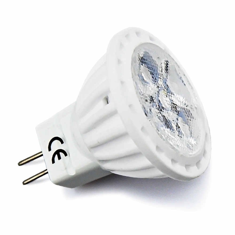 4W MR11 LED Bulb GU4 Bi Pin Base 12V MR11 Landscape Light Ceramic G4 Bulbs 35W Halogen Replace for Track Lights Hotel Display