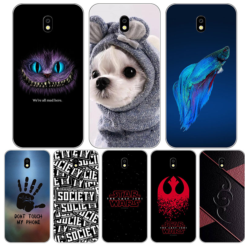 Cute Cartoon Case For <font><b>Samsung</b></font> Galaxy J5 2017 J530 J530F <font><b>J530FM</b></font> <font><b>SM</b></font>-J530F J5 Pro Cover Printing Cat Printed Phone Shell Capa Funda image