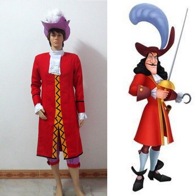 Peter Pan Captain Hook Cosplay Costume Adult Men Halloween ...