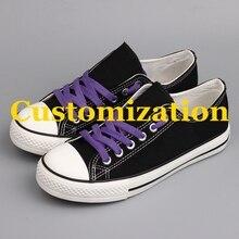 40776a8542 Venta caliente América Fans Zapatos de lona planos diseñador personalizado  Low Top Casual hombres zapato plano caminar Tenis alp.