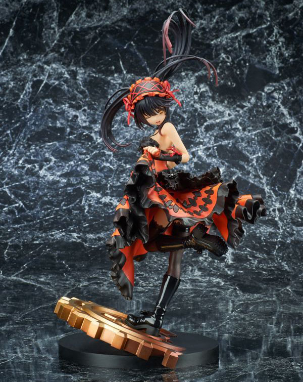 Free Shipping 11 Date A Live II Anime Tokisaki Kurumi Nightmare 5th Ver. Boxed 28cm PVC Action Figure Collection Model Doll Toy free shipping 6 comics dc superhero shfiguarts batman injustice ver boxed 16cm pvc action figure collection model doll toy