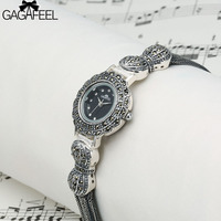 100 S925 Sterling Silver Watches Women Quartz Wristwatch Ladies Vintage Thail Silver Watch Woman Gifts