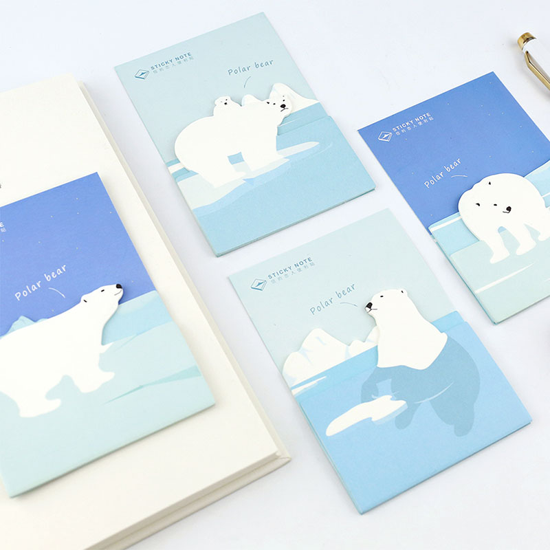 1 pcs Polar bear memo pad paper post notes sticky note notepad stationery papeleria office school supplies kids gift
