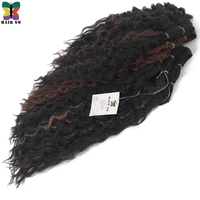 HAIR SW Loose Wave Kanekalon Synthetic Hair Weaving Extension 20inch For Afro Women 1B 33 P1B