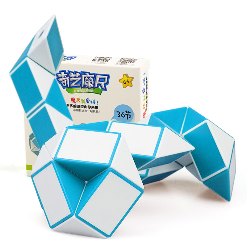 QIYI 36 Segments Magic Rule Snake Cube Elasticity Elastic Changed Popular Twist Transformable Kid Puzzle Toy For Children