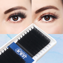 16ROWS Eyelash Extension Individual Eyelash Extension Cilios Faux Mink Eyelash Lashes Silk Volume Lashes for Professional Makeup genie shadow lashes individual lashes double curl and length faux mink fit for volume eyelash extension make up eye lashes