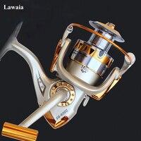 Lawaia12-axis Kim Loại Ném Các Bánh Xe Đá Fishing Reel Bánh Xe Quay Biển Cực Tròn Câu Cá Câu Cá Câu Trolling Reel